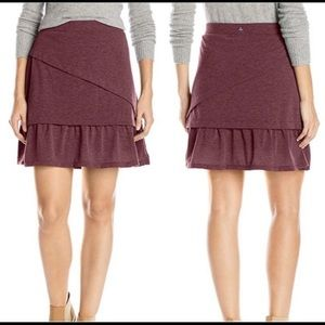 Prana Leah Tiered Layered Plum Skirt Medium